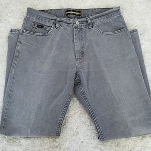Lee's straight leg, 34x30 grey jeans